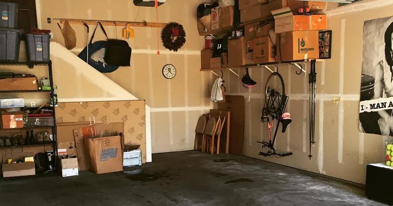 clean garage space