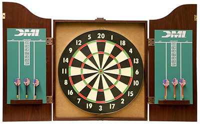 dmi sports dartboard cabinetset