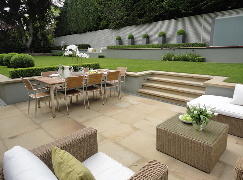 Beautiful Sunken Patio London Backyard