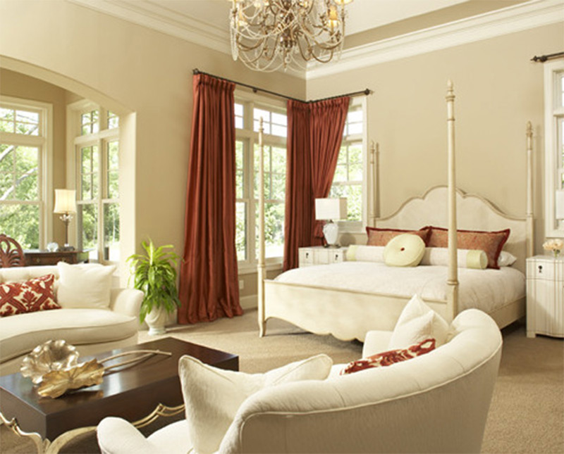 beautiful white bedroom interior couches sofas