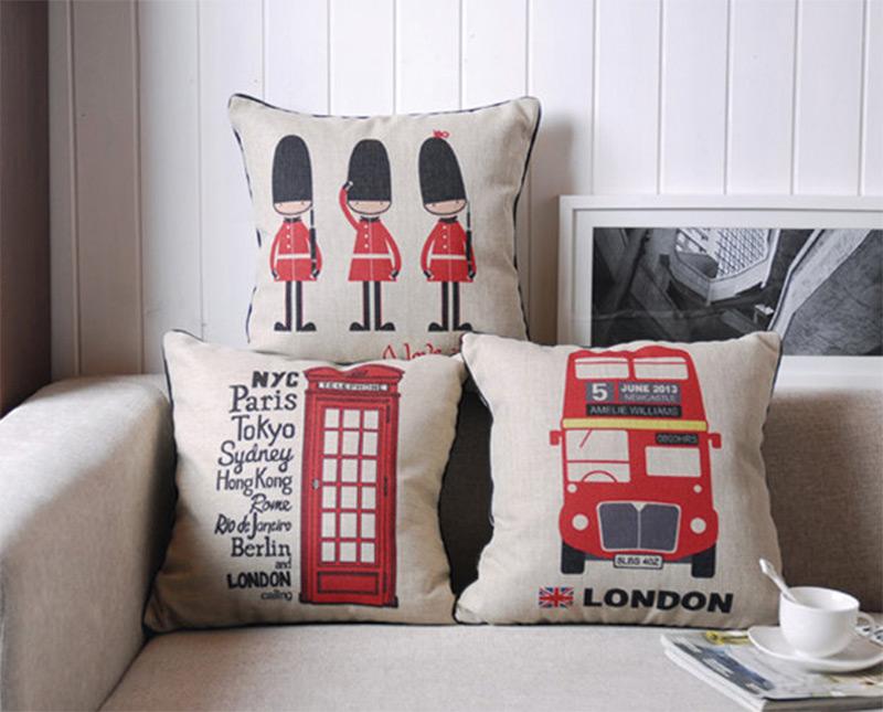 natural linen throw pillows london england design