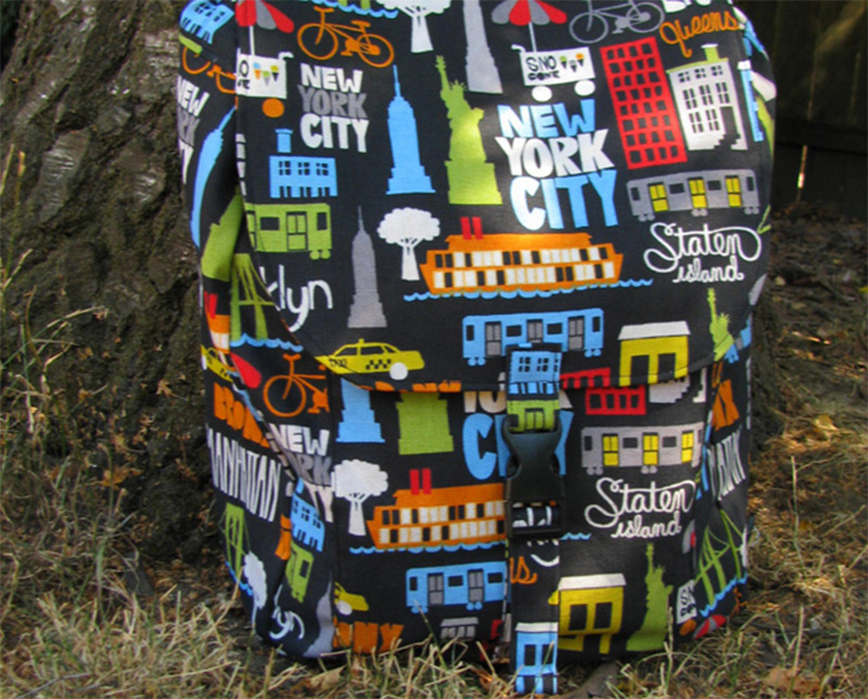 canvas backpack nyc new york theme print