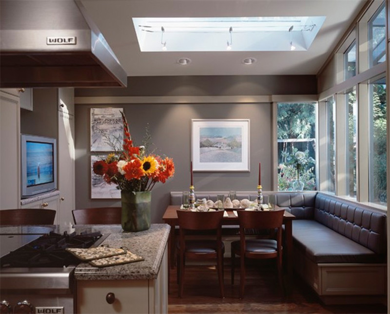laurelhurstt kitchen interior table skylight
