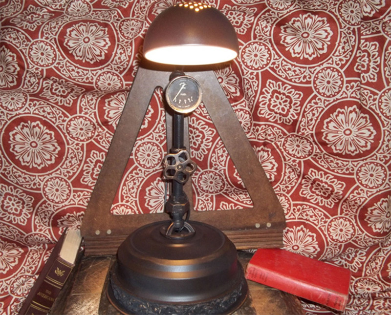 table lamp vintage parts industrial