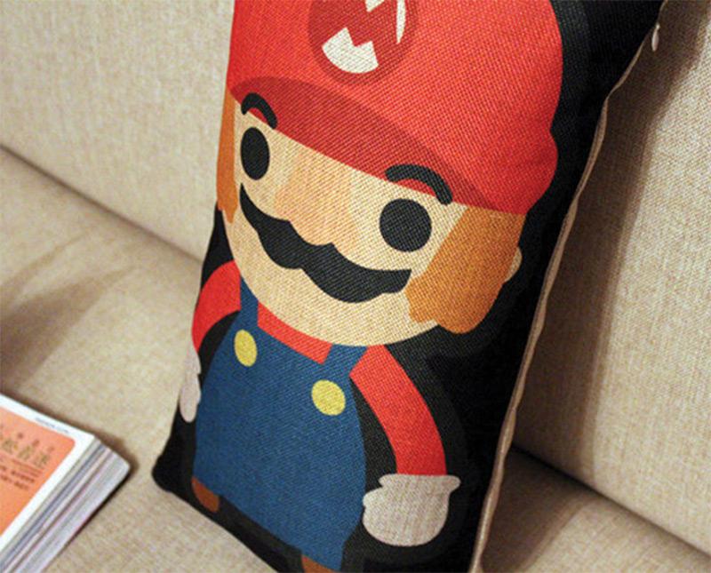 super mario cartoon throw pillow etsy