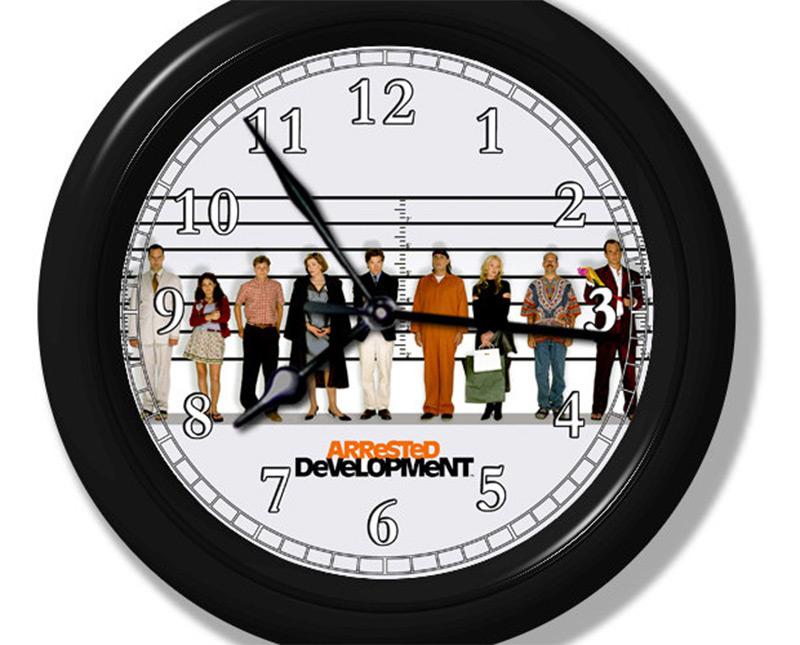 custom arrested development bluth family wall clock