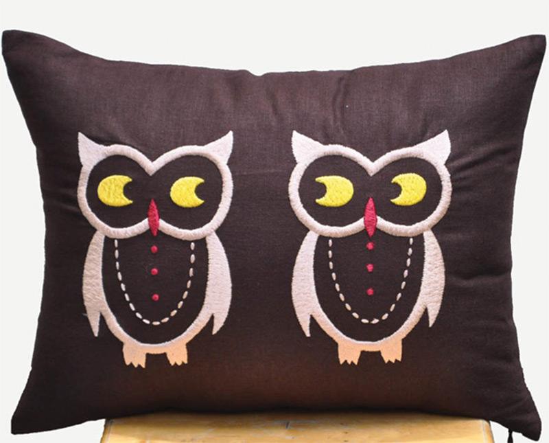 big throw pillow lumbar support dark owls