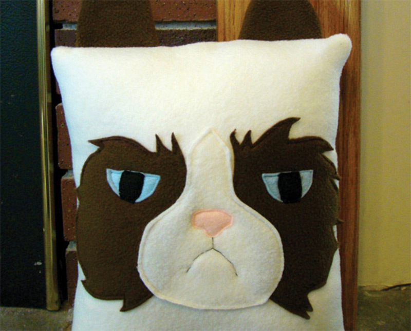 soft grumpy cat meme throw pillow etsy