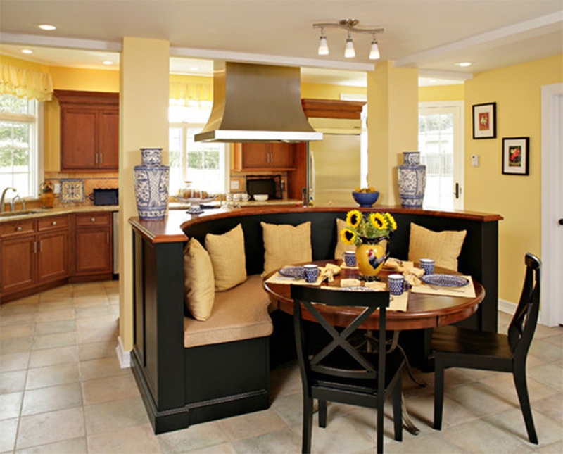 Kitchen Island With Booth Seating kitchen island nook trend alert a kitchen island that s also a for