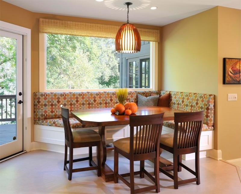 slider deck dining area kitchen interior