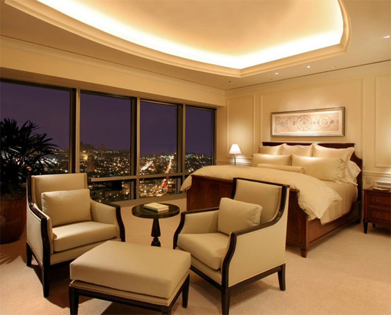 highrise bedroom interior design photograph fancy wealthy luxury