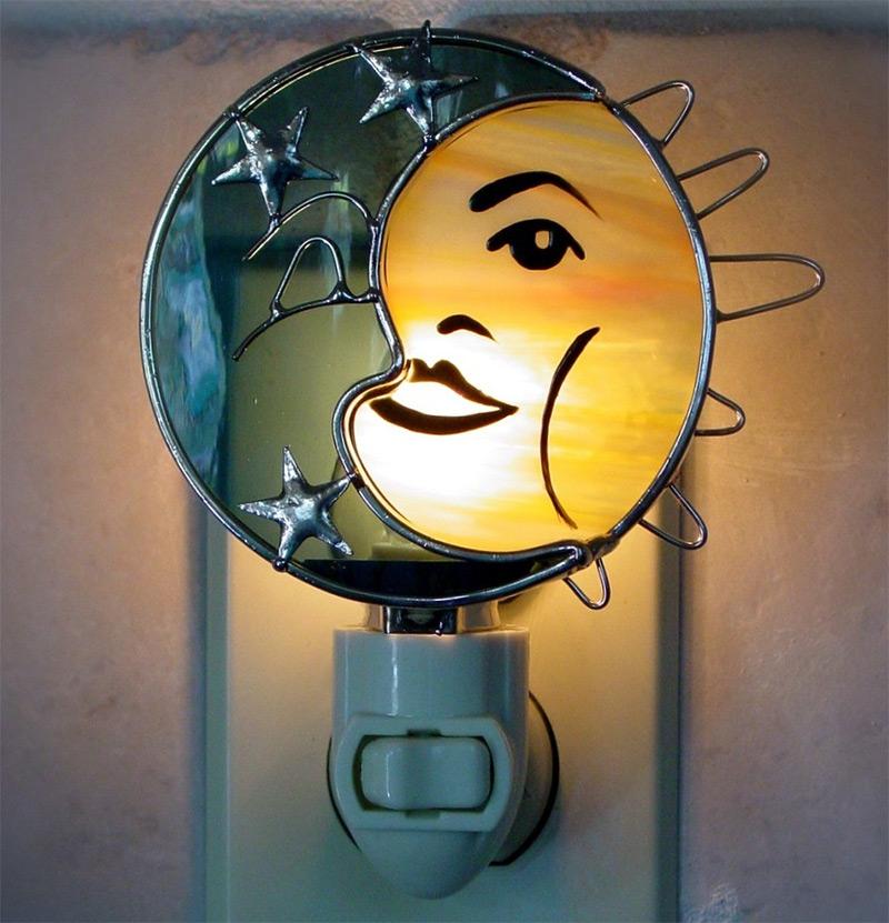 celestial sigil sun moon nightlight etsy