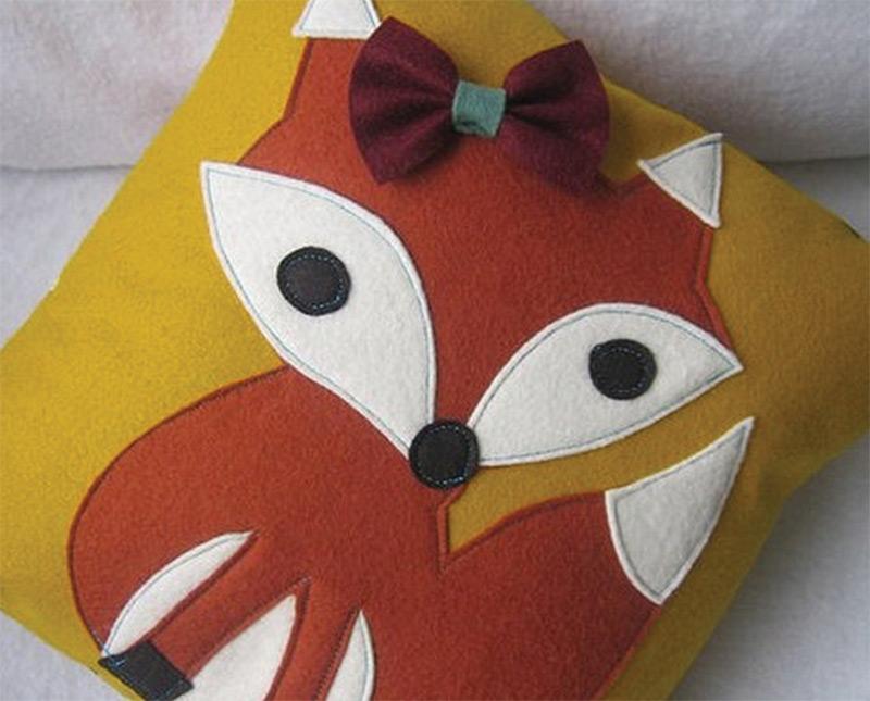 custom etsy pillow fox bow foxy sexy