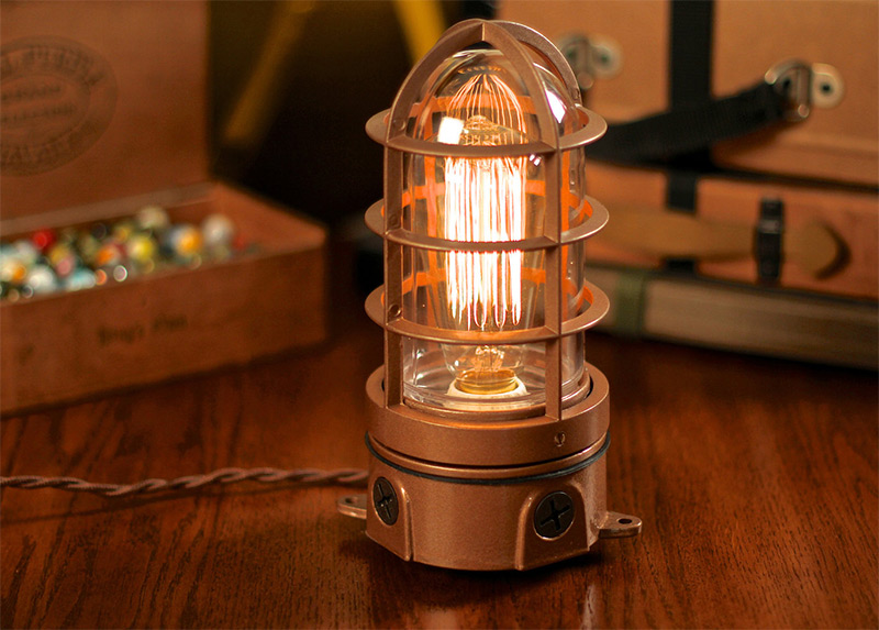 edison bulb cage lamp table design etsy