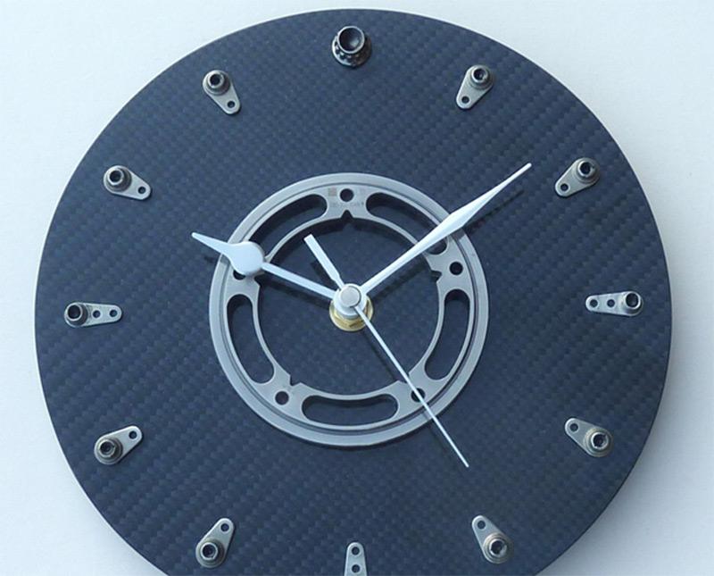 f1 racing car fiber wall clock carbon design
