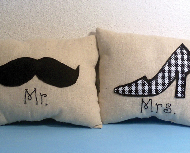 mister misses man woman pillows throw designs