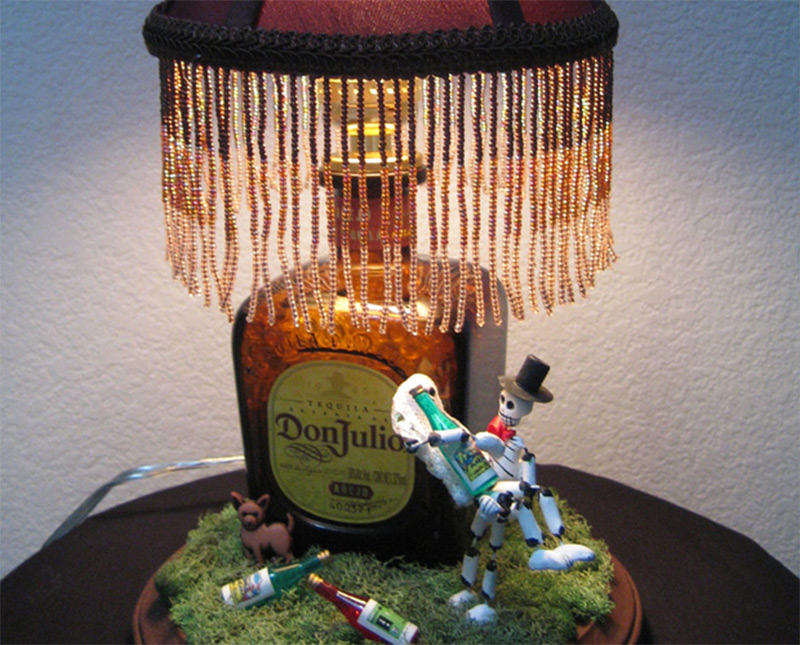 donjulio tequila bottle table lamp etsy