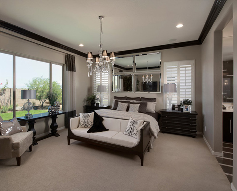 large dark bedroom luxurious modern pheonix arizona