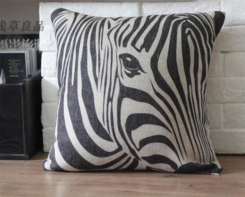zebra stripes decorative print pillows