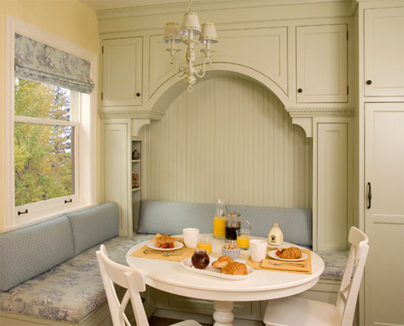 breakfast nook dining table area pantry interior
