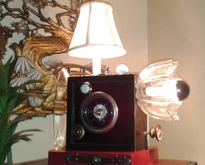 magic table lamp box steampunk etsy