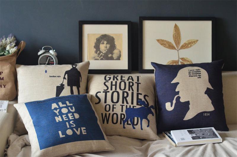 pillow cover prints books artwork etsy