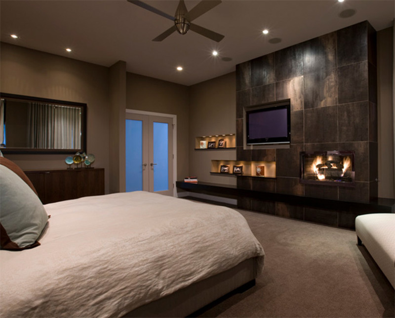 Contemporary bedroom interiors for decor inspiration full home living - Comfy interiors ...