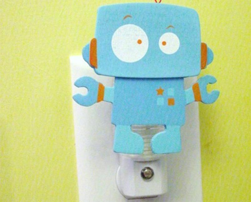 custom robot artwork nightlight design etsy