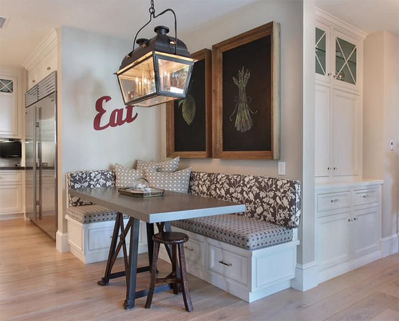 dining kitchen table interior corner banquette