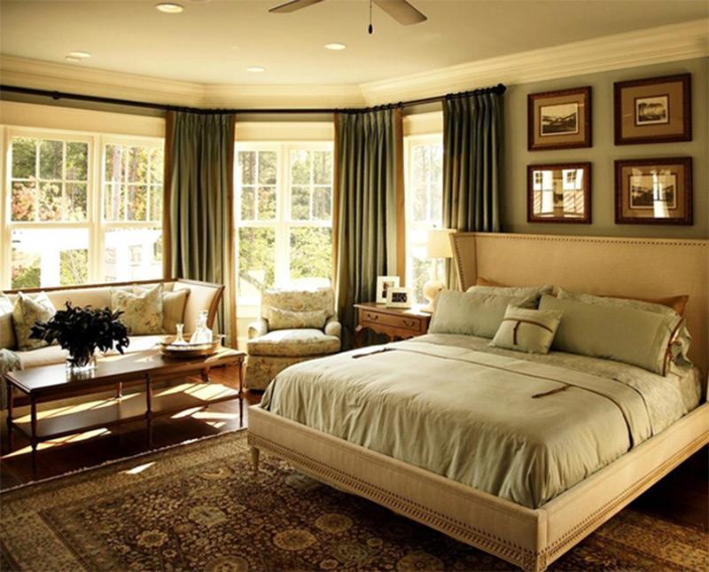 interior luxury shingle house bed sofa chairs cofee table