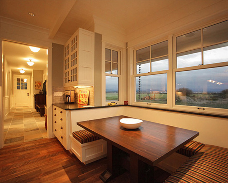 dining room table wood seattle window seating