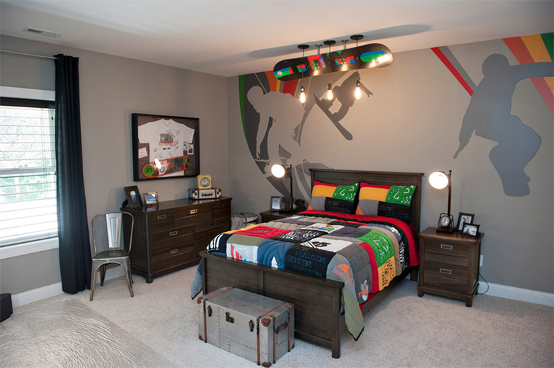 snowboard room 2013 homearama traditional boys bedroom