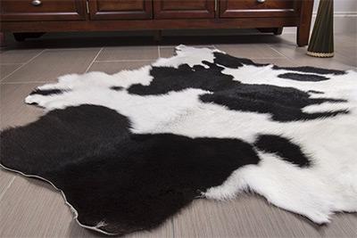 panda hairy rodeo cowhide