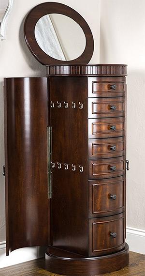 hive honey blair walnut armoire