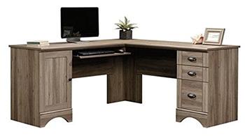 sauder harbor lshaped desk