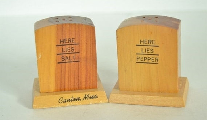 tombstone salt pepper shakers