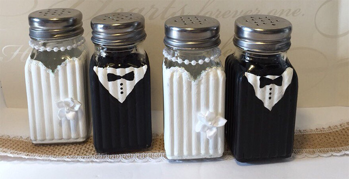 wedding salt pepper shakers