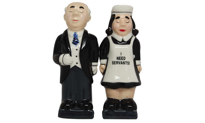 servant salt pepper shaker