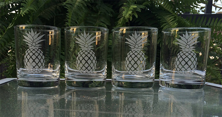 pineapple drinking glasses