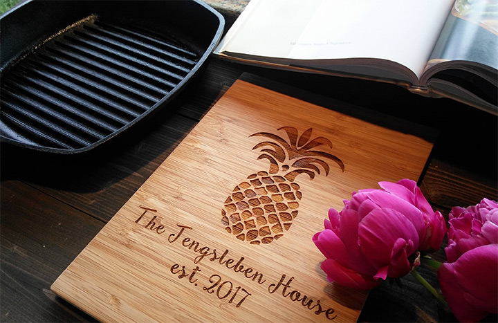 pineapple cutting board designs