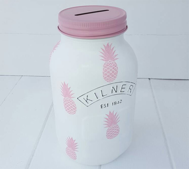 pineapple savings jars