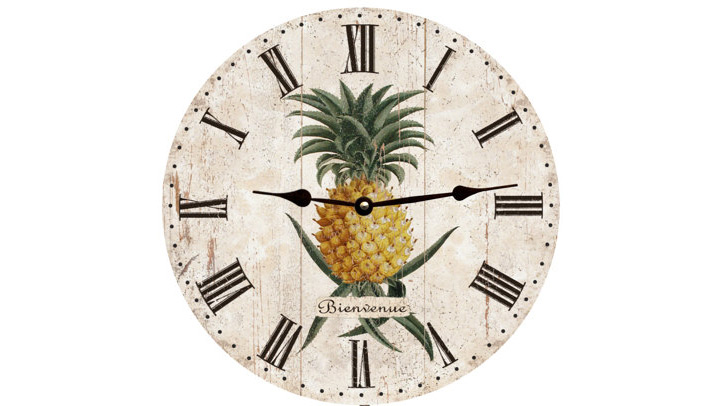 pineapple wall clocks