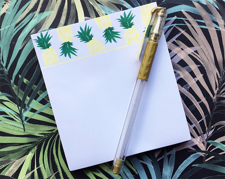 pineapple note pads