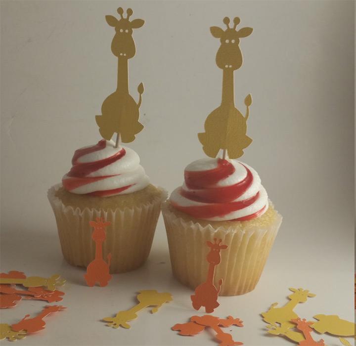 giraffe cake toppers