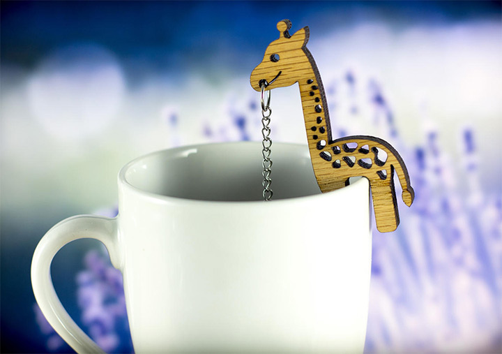 giraffe teal infuser