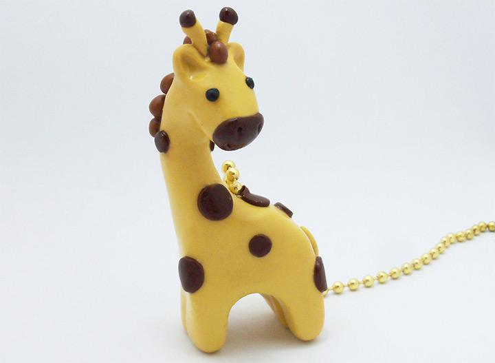 fan pulls giraffes