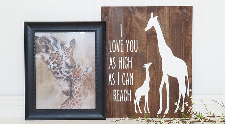 rustic giraffe art