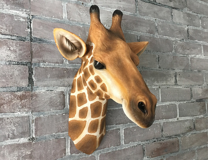 faux giraffe wall mount