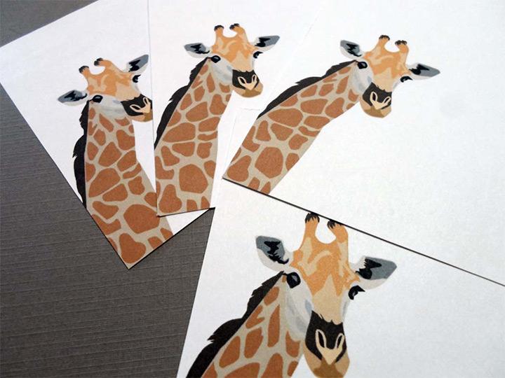 notepads giraffes
