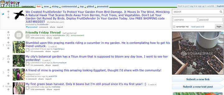 gardening subreddit